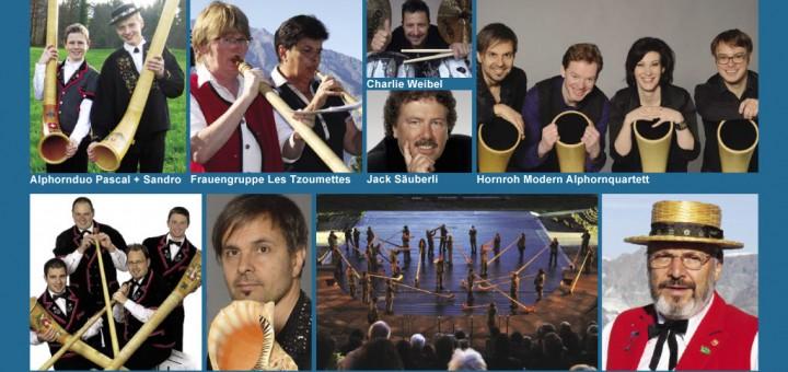 Jubiläumsprogramm Alphorn in Concert 2015: «Vom Höhlenbewohner bis heute»