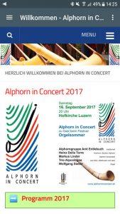Alphorn in Concert Free App