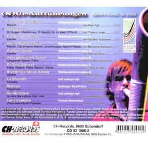 (N)Ur-Aufführungen (2006) Vol. IV: Rückseite