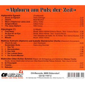 Alphorn am Puls der Zeit (2007) Vol. V: Rückseite