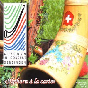 """""""Alphorn A LA CARTE"""" (2008) Vol. VI (Vorderseite)"""